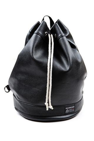 블랙 레더 더플백(black)